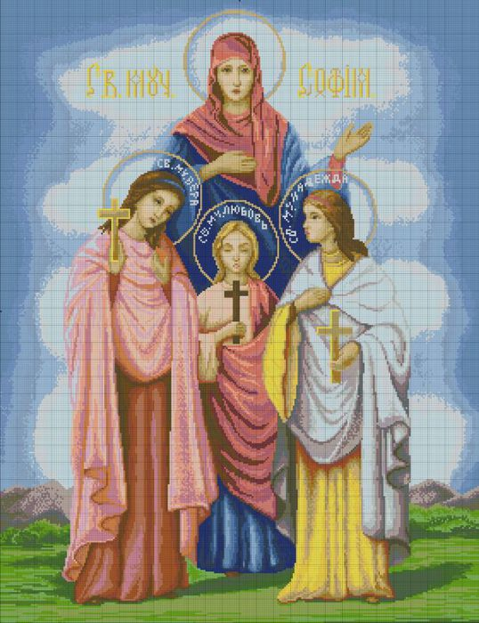 Схема иконы вера надежда любовь фото 610