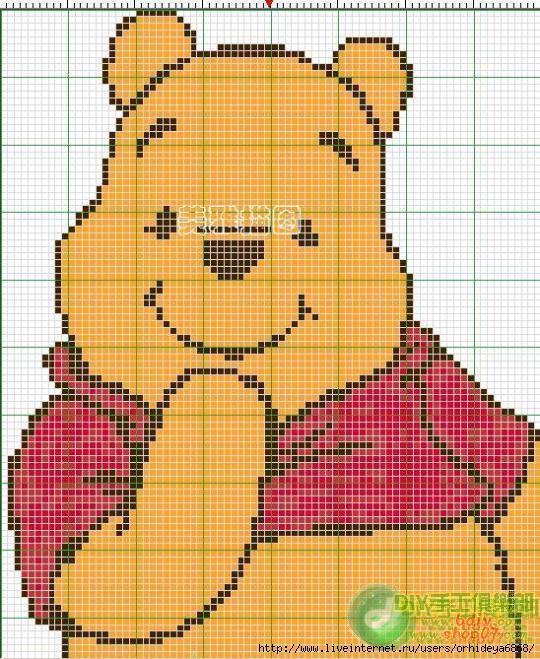 схема вязания рисунка на детском свитере.