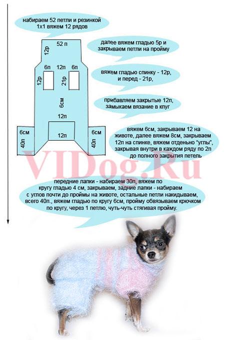 ...размеры Вашей собачки.  Для этого вяжется полотно размером 10 см х 10...