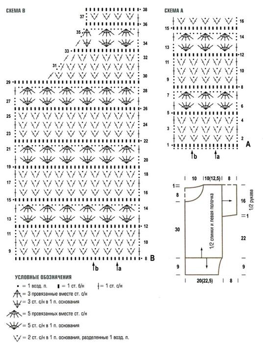 схема вязания свитера 42 размер 42