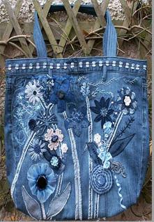 сумки из старых джинсов.