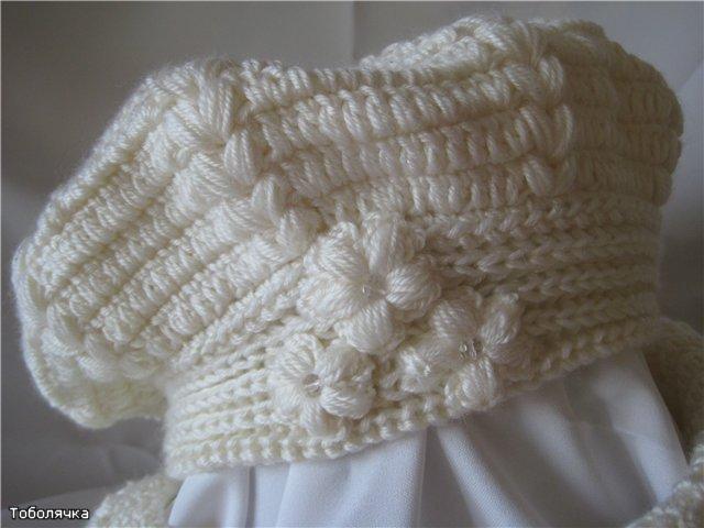 Берет, шарф и митенки крючком.  Комплект для осени связан крючком 12.