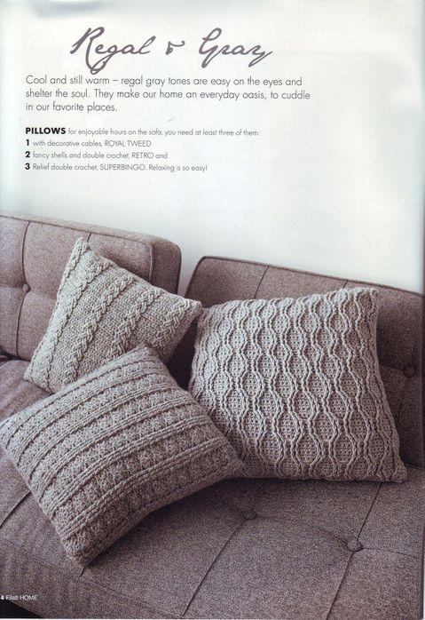 подушки спицами схемы есть обсуждение на Liveinternet