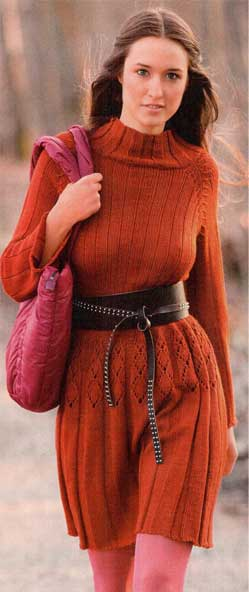 Платье вязаное спицами Размеры: 36/38 (Р, вязаные кофты с оленями и...