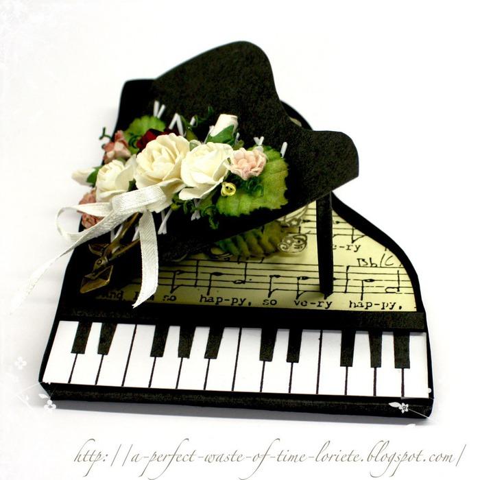 Музыкальные картонные открытки, открытка для