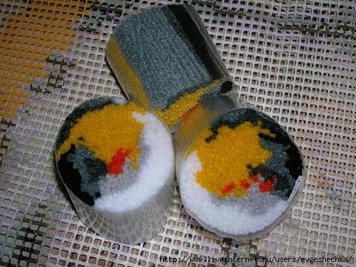 Вышивка в ковровой технике так можно