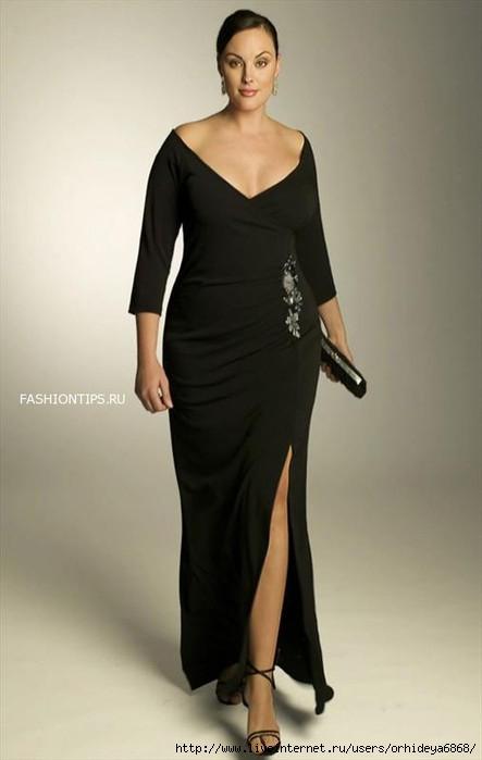 Вечерние платья для полных - 100 красивых моделей - Короткие.