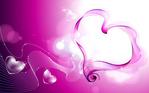 Красивые розовые сердечки - обои для рабочего стола.