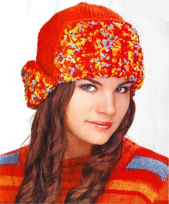 урок вязания шапки ушанки - Выкройки одежды для детей и взрослых.