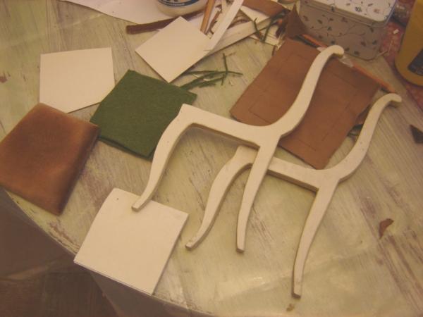 Кресло для куклы из фанеры 135