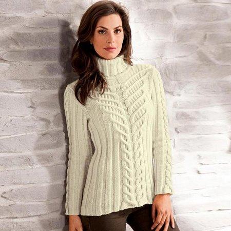вязаный свитер - Схемы вязания.