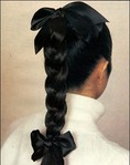 плетение кос с лентами фото.