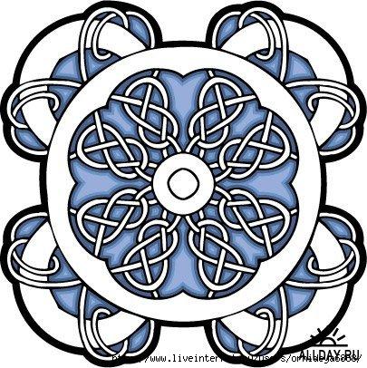 Кельтский орнамент.  Иногда такие узоры должны быть под рукой.
