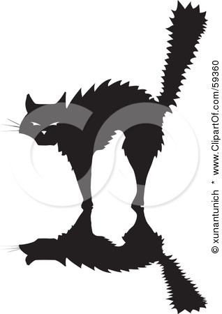 59360-Scared-Silhouetted-Cat-Arching-Its-Back (318x450, 27Kb)