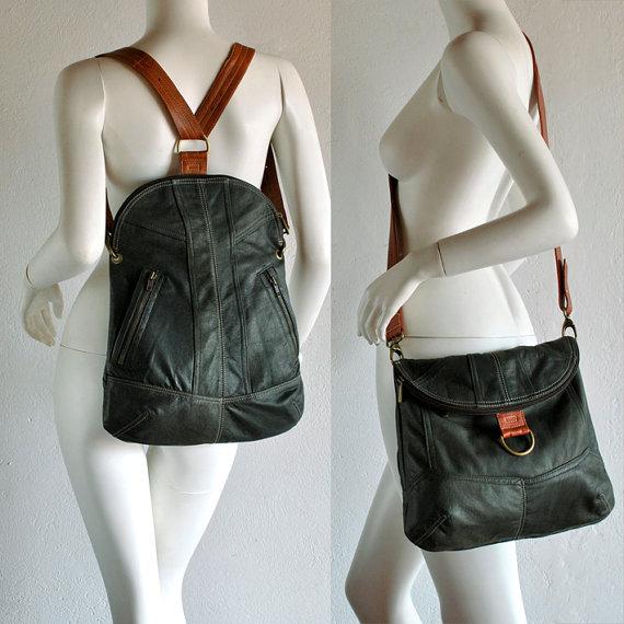 лекала сумок и рюкзаков из кожи в рок стиле.