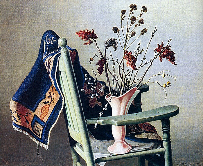 Roger Medearis 1920-2001Still Life With Green Chair (700x573, 424Kb)