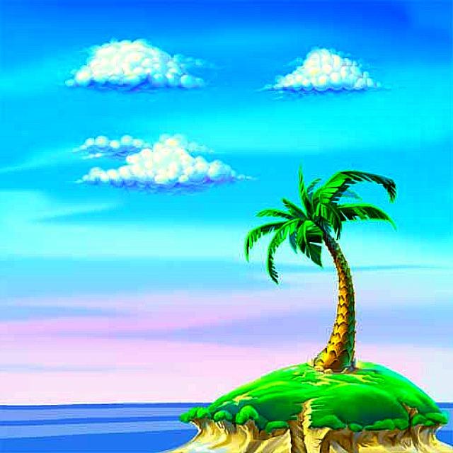 Рисованные картинки, картинки островов для детей