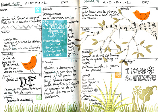 April journal pages (550x390, 240Kb)