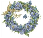 Превью Lanarte34736-Blue_Wreath (700x620, 319Kb)