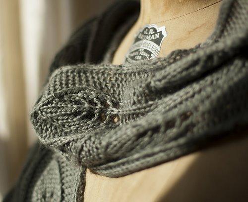 Красивый вязаный шарф спицами Материалы: нитки, спицы 2-х номеров...