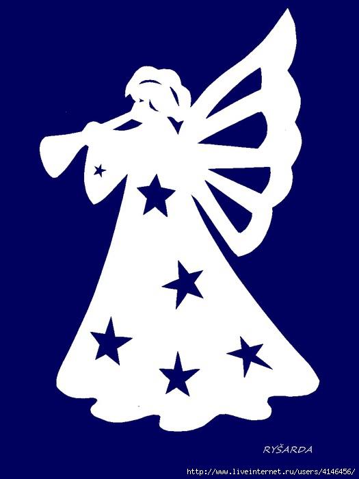 Ангел схема вырезания