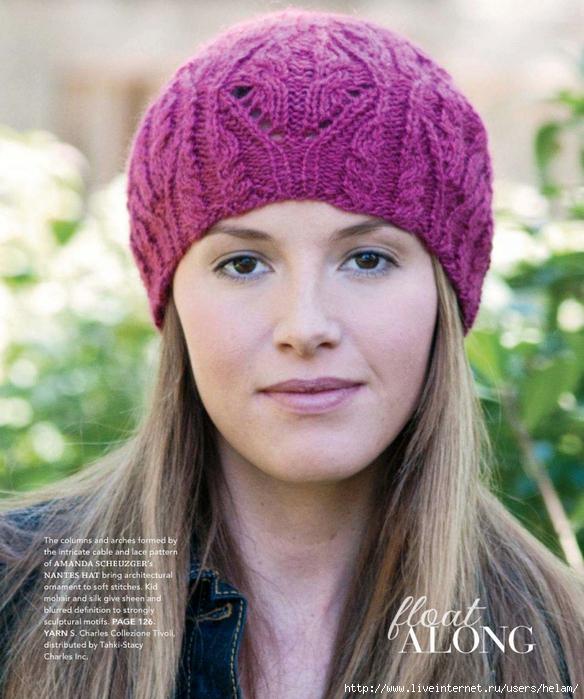 шапки береты вязание спицами бесплатные схемы