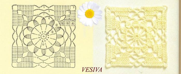 Для изделий, вязаных крючком схемы квадратов очень актуальны, ажурные...