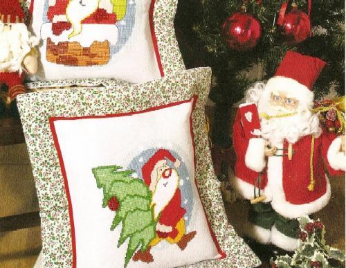 Схемы вышивки крестом для Новогодних подарков.