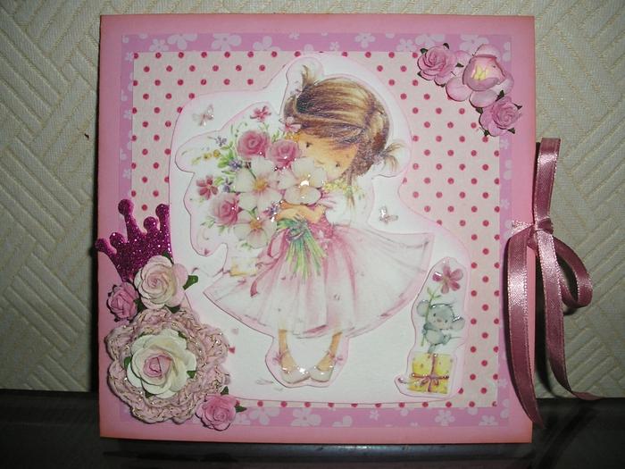 Поздравительные открытки, скрап открытки с днем рождения для девочки