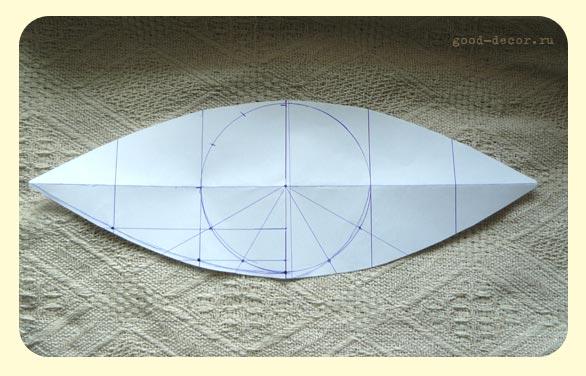 Выкройка сегмента шара.