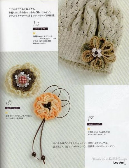 Hand Knitted Corsages 3 (442x576, 75Kb)