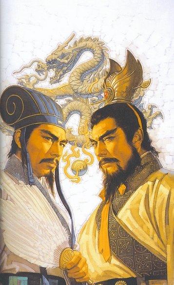 Zhuge Lian & Cao Cao (357x584, 60Kb)