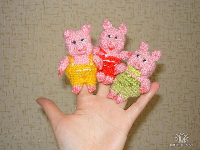 игрушки пальчиковые крючком схемы