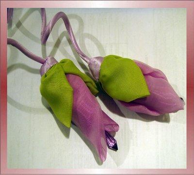 цветы из ткани для украшения платья как сделать своими руками.