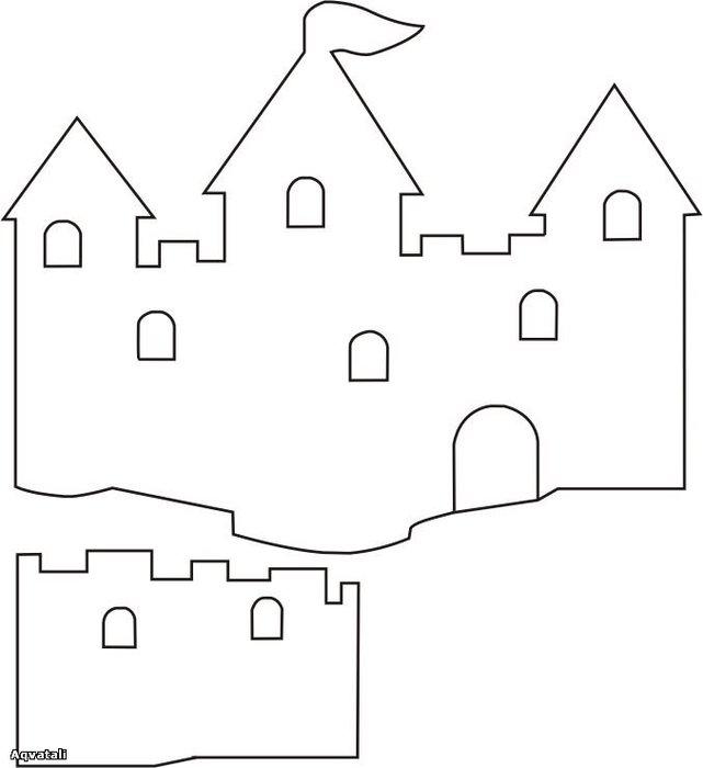 Шаблон открытки замка