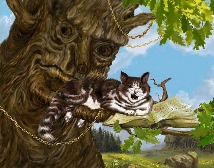 картинка кота ученого из пушкина время второй мировой