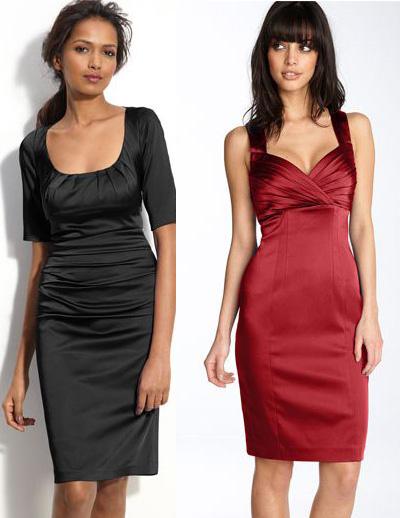 Модные вечерние платья-футляр 2012.