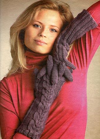 Описание: Шапки, шарфы, варежки вязаные спицами.