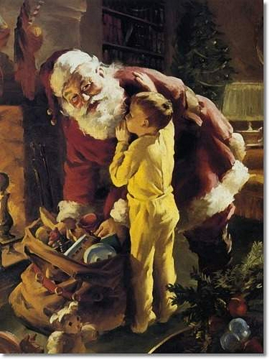 Howard A.Terpning - Twas The Night Before Christmas (525x700, 266Kb)