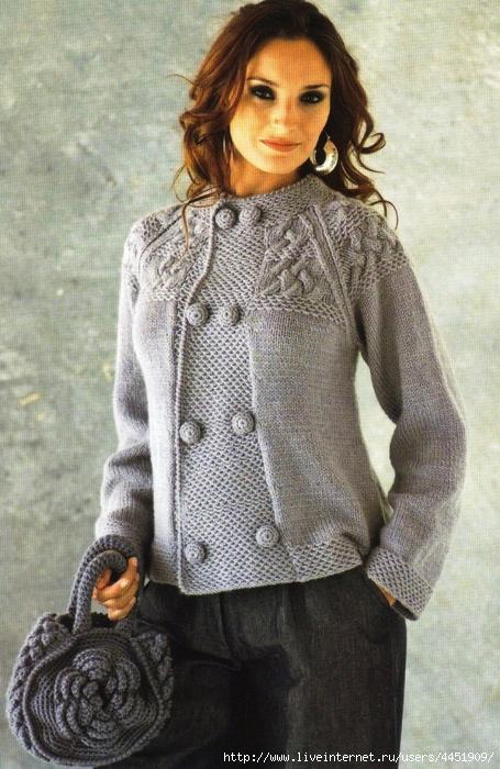 картошечка схема вязания кофты спицами для женщин