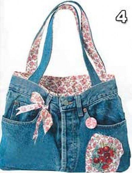 сшить дорожную сумку из джинсов