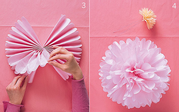 Большой цветок из салфеток своими руками