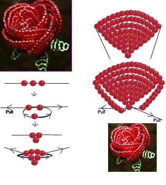 Бисерные розы - здесь работы выполненные из бисера .а так же схемы по...