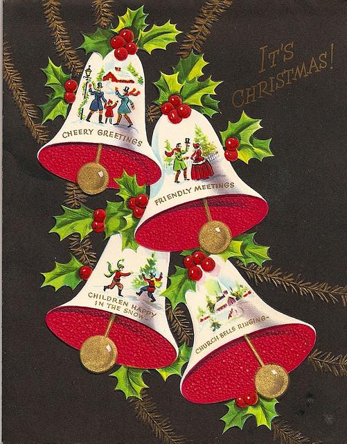 Поздравляем анимационные, новогодняя открытка колокольчики