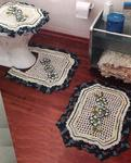 Вязаный крючком набор для туалета и ванной комнаты - коврик под Вязание для женщин Аксессуары Схема держателя для...