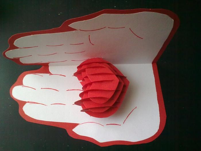 Открытка в форме руки сделать