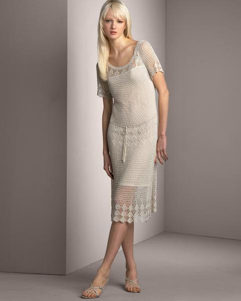 длинное летнее платье, связанное крючком, схемы.