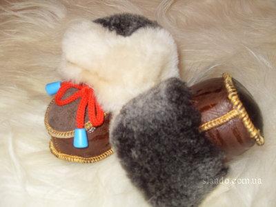 Пинетки из натурального меха (шьем сами)