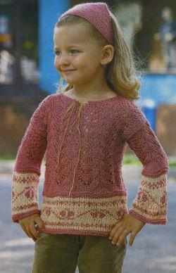 Описание: схемы вязания спицами кофты для девочек 10 лет.