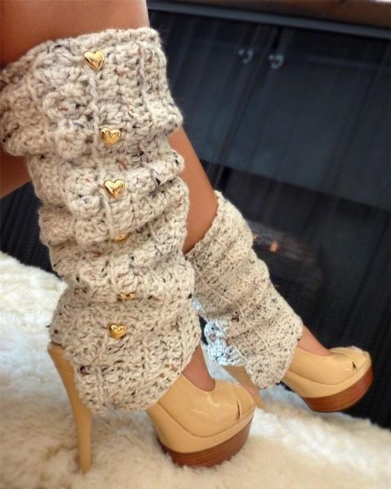 бежевые ботинки с чем носить - Джинсы.